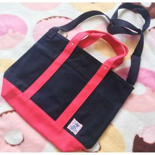 日本版 - 日本製瀨戶內帆布兩用袋 (可側揹 手挽) Shimamura Closshi 2way canvas tote shopping bag)
