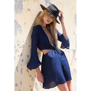 Bec and Bridge Blue Haze Mini Dress - RRP $200