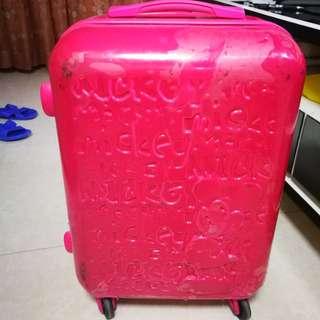 24' 行李  Luggage 內籠新淨 Disneyland logo 迪士尼