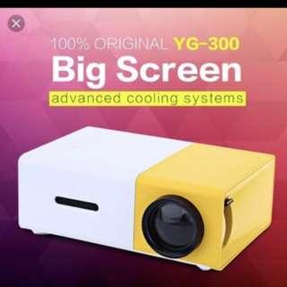 🎬100% Original YG-300 LED mini projector