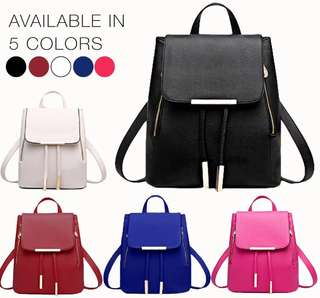 Korean Leather Bag Backpack School Bag Office Bag :)