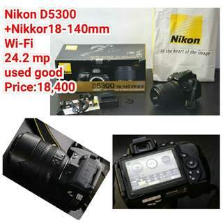 Nikon D5300 +Nikkor18-140mm