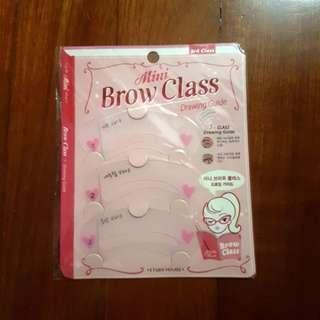 Eyebrow Brow class drawing guide
