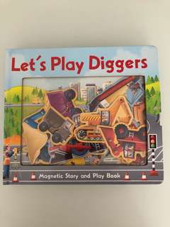 Let's Play Diggers Magnetic Book