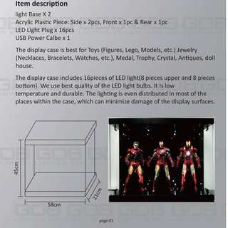 100% Brand New S01 GOB Lighting Box Figure Display Case for 1/6th Scale Figures not hot toys iron man enterbay sideshow threeA
