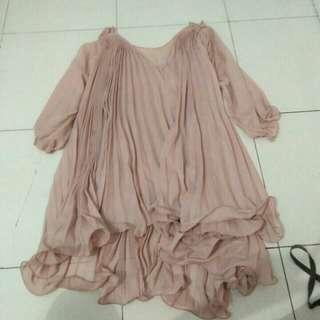 Dress Baby Doll Pink Pastel