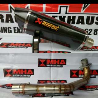 Xmax akra full system (non lta approved)