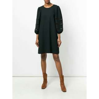 See By Chloe Black Shift Dress (size XS, fits UK 6-8)