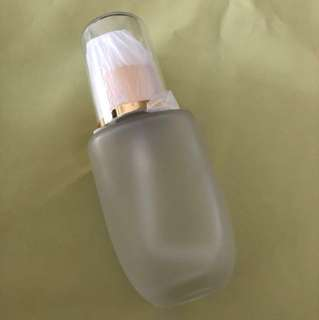 Frosted glass lotion pump bottle for cosmetics