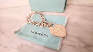 Tiffany 手鏈, silver big heart, Limited Edition