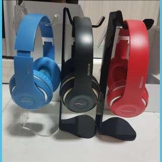 BNIB Bluetooth Headphone FM function Wireless Fantastic sound colour