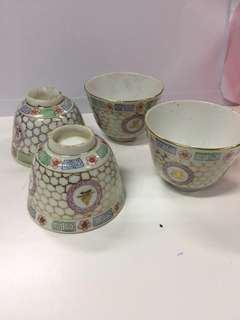 Vintage Chinese Cups