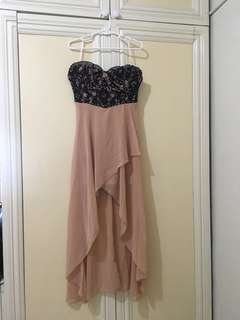 Black Tube Lace Cocktail Dress