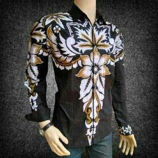 Kemeja Batik Pria Modern - Lengan Panjang