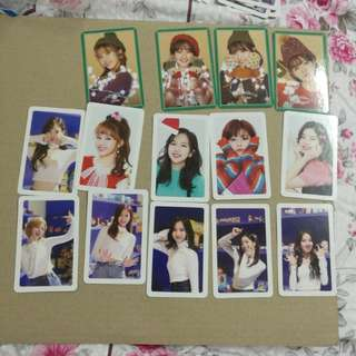 Twice merry happy photocard
