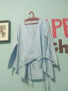 Kimono Biru Pastel
