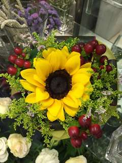Sunshine Days (Fresh Sunflower Hand Bouquet)