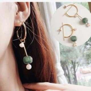 Anting aksesories tas shoes bag earrings foundation