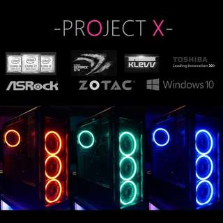 Project X Spec 1 - Professional Gaming Rig