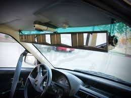 Long 5 panel rear view mirror