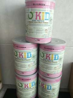 Biogreen O'Kid High Protein Organic Soya Milk Powder