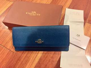 Coach Slim Saffiano Leather Wallet