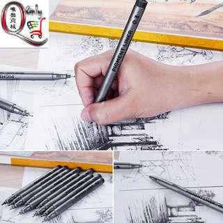 Fine Liner Art Drawing Set Inking Black Signature Drawing Ink Pens