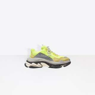 Balenciaga Triple S Sneakers - Neon Yellow/ Flouro