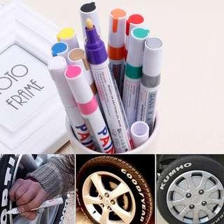 12 Colors Sets Fine Paint Oil Based Art Marker Pen Glass Metal Waterproof New