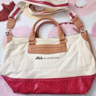 日本版 - Jill By Jill Stuart Canvas Tote bag Crossbody Handbag 帆布加人造皮兩用手提大袋 手挽袋 上膊袋 側揹袋