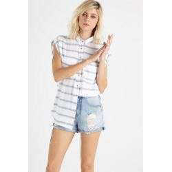 Cotton on jay muscle shirt in blue stripes