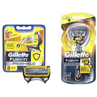 Gillette Fusion ProShield Razor and 2 Razor Blade Refills & Gillette Fusion ProShield Razor Cartridges refill, 8ct.