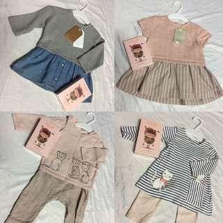 H&M ZARA BABY GIRL 4-6m 6-9m
