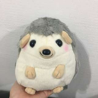 Grey Hedgehog Plush Toy