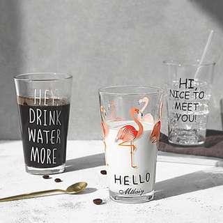 🚚 紅鶴玻璃杯 英文字玻璃杯
