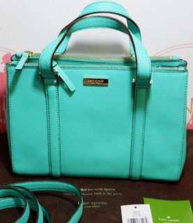 Good as new! Authentic Kate Spade Small Loden Newbury Lane (color brightberl/emerald green)