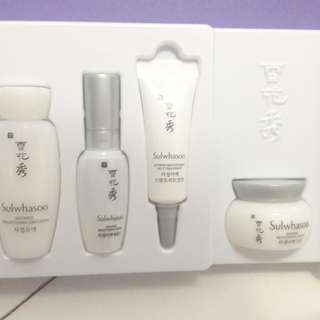 Sulwhasoo travel kit Snowise edition