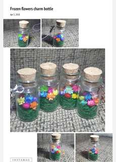 Frozen flowers charm bottle