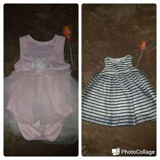 Pink Tutu onesie 50php/ Gap stripes baby dress (sold)100 each