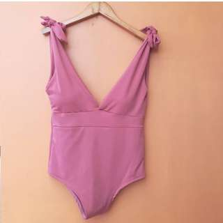 Lowneck Blush One Piece with Bow Details
