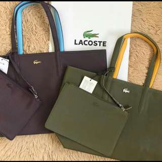 Lacoste leather reversible wth pouch