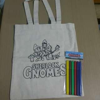 全新神探福爾摩侏限量環保袋連顏色筆