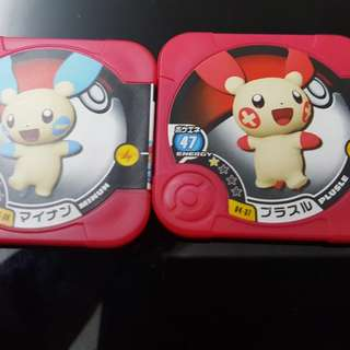 Pokemon tretta minum and plusle set