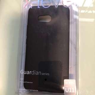 全新HTC U11 黑色手機套、尼龍type-c充電線及鋼化玻璃MON貼  全部共$200