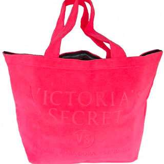 Victoria's Secret Beach day Tery Tote Hot Pink Bag