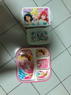 Lunch box and plate