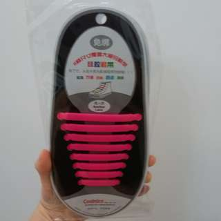 Silicone laces (pink)