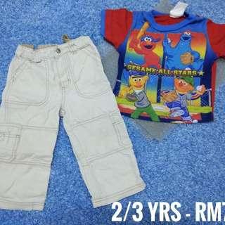 2/3 years - Kids Cloth Shirt Dress Baby Girl Boy