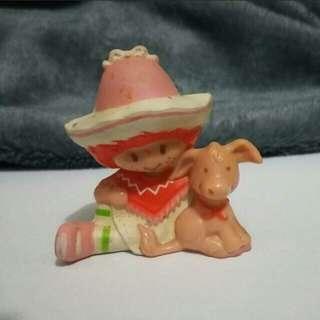 Strawberry Shortcake figurine - Cafe Ole with Burrito Donkey