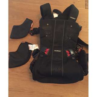 Baby Bjorn Carrier One black mesh with two dribble bibs